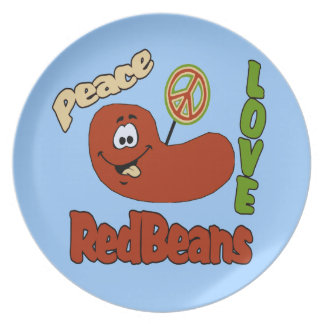 Red Beans Rice Monday Melamine Plate