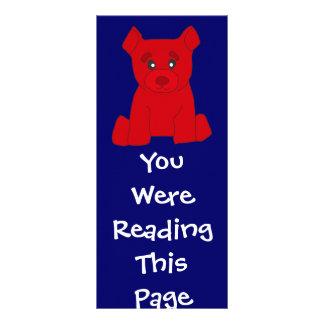 Red Bear Bookmark Template Custom Rack Card