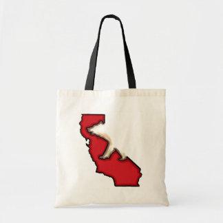 Red bear California state bear reusable bag