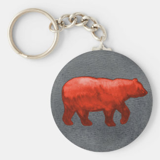Red Bear Keychain