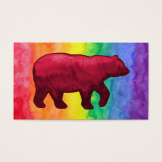 Red Bear on Rainbow Wash Business Card
