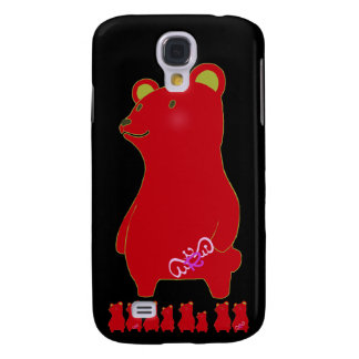 RED BEAR SAMSUNG GALAXY S4 COVER