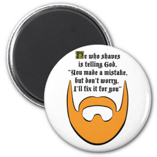 red beard 2 inch round magnet