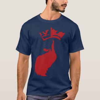 Red Beard on Navy T-Shirt