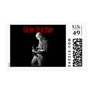Red Beard Real Postage Stamp