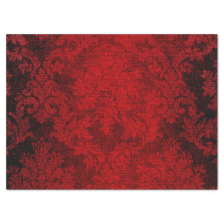 Red Beautiful Goth Victorian Damask Vintage Tissue Paper