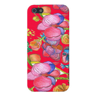 Red Beauty Asian Design IPhone5 Cover For iPhone SE/5/5s