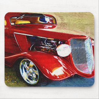 Red Beauty - Classic Collector s Car Mouse Pad