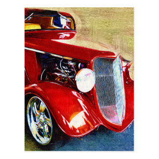 Red Beauty - Classic Collector s Car Postcards