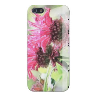 Red Bee Balm Blooms iPhone SE/5/5s Cover