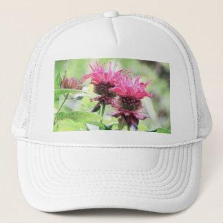 Red Bee Balm Blooms Trucker Hat