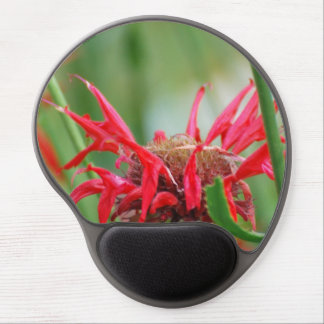Red Bee Balm Flowers Gel Mouse Pad