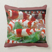 Red Bee Shrimp Throw Pillow