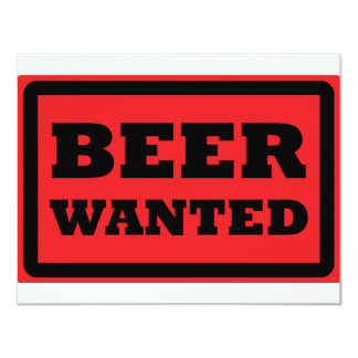 red beer wanted icon card