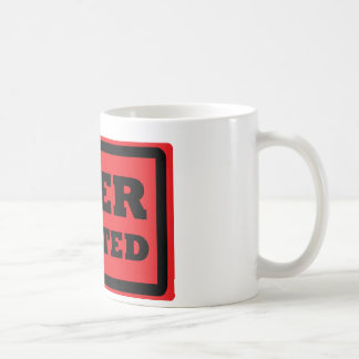 red beer wanted icon coffee mug