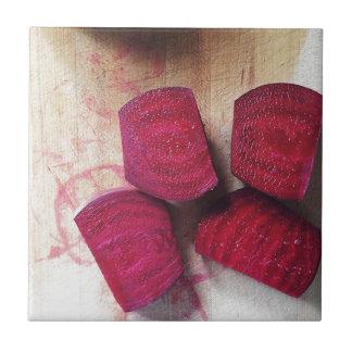 Red Beets Ceramic Tile