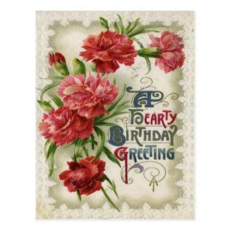 Red Begonia Flower Flowers Postcard