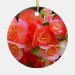 red begonia flowers ornament