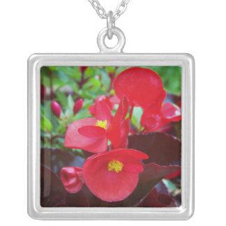 Red Begonia Pendant