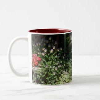 Red Begonias ~ Viola Garden Flowers Mug