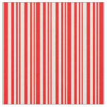 [ Thumbnail: Red & Beige Colored Pattern Fabric ]