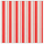 [ Thumbnail: Red & Beige Colored Pattern of Stripes Fabric ]