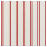 [ Thumbnail: Red & Beige Pattern Fabric ]