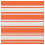 [ Thumbnail: Red, Beige & Salmon Striped Pattern Fabric ]