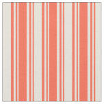 [ Thumbnail: Red & Beige Striped/Lined Pattern Fabric ]