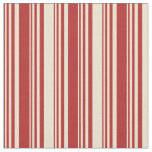[ Thumbnail: Red & Beige Stripes Fabric ]