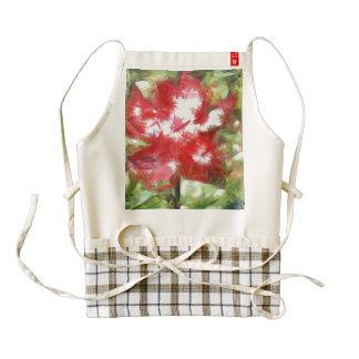Red being pulled apart zazzle HEART apron