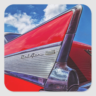 Red Bel Air Square Sticker