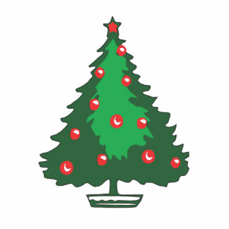 Red bell Christmas tree Cut Outs