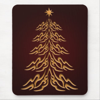 Red Bell  Christmas Tree Mouse Pad
