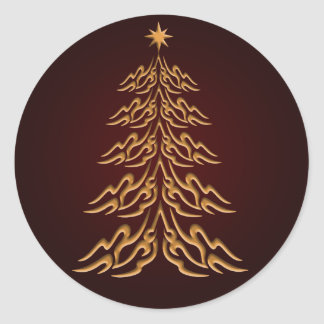 Red Bell  Christmas Tree Stickers