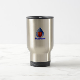 Red bell pepper blue text blue drop hydroponics coffee mugs