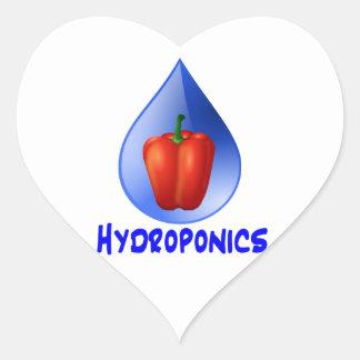 Red bell pepper blue text blue drop hydroponics sticker