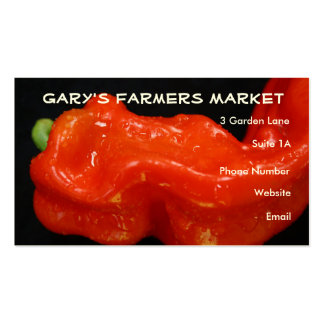 Red Bell Pepper Double-Sided Standard Business Cards (Pack Of 100)