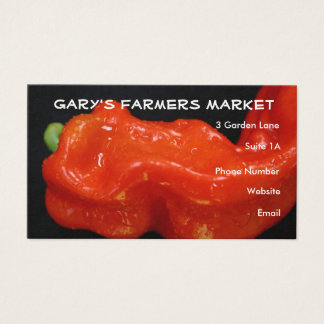 Red Bell Pepper Business Card