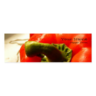 Red Bell Pepper Farm Bookmark Style Card Business Card Template
