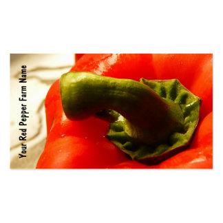 Red Bell Pepper Veggie Growers Business Card Template