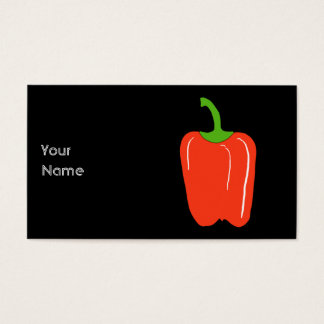 Red Bell Pepper. Whole. Business Card