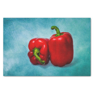 """Red Bell Peppers 10"""" X 15"""" Tissue Paper"""