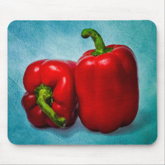 Red Bell Peppers Mouse Pad