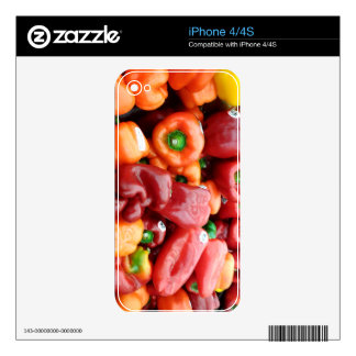 Red Bell Peppers Skins For The iPhone 4