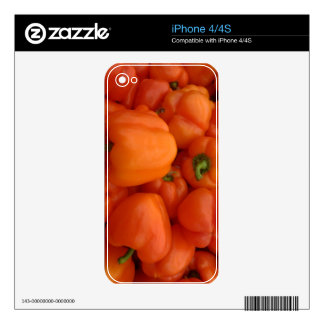 Red Bell Peppers iPhone 4 Decals