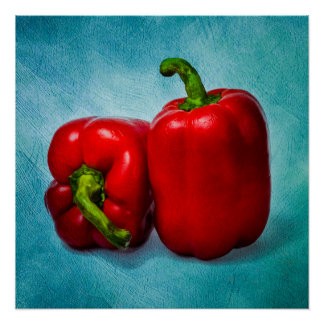 Red Bell Peppers Perfect Poster