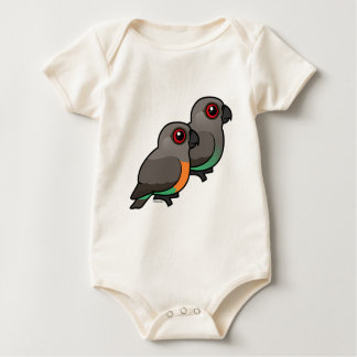 Red-bellied Parrot Pair Baby Bodysuit