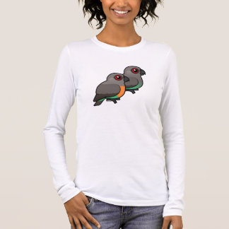 Red-bellied Parrot Pair Long Sleeve T-Shirt