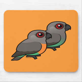 Red-bellied Parrot Pair Mouse Pads